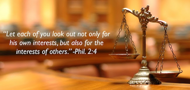 Look each of you look out not only for his interests, but also for the interests of others.